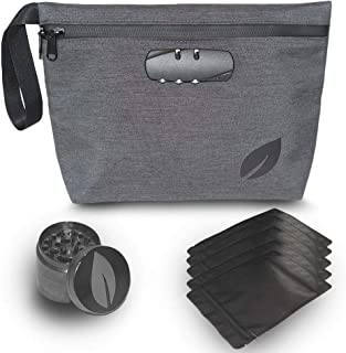 Smell Proof Bag with Combination Lock, 11x7.5