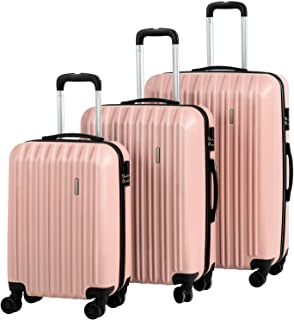 """Luggage 3 Piece Set Suitcase Spinner Hardshell Lightweight with 360° Spinner Wheel ABS Lightweight Travel Luggage 20""""24"""" 2..."""