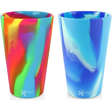 Silipint Silicone Pint Glass Set Shatter-proof Patented Unbreakable Silicone Cup Drinkware