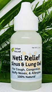 Urban ReLeaf Neti Relief Sinus and Lung Gel. for Chest, Throat, Cough. Fresh, Healing Aromatherapy. Great for Colds, Stuffy Nose, 100% Natural Wellness