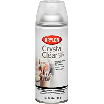 Krylon K01303007 Acrylic Spray Paint Crystal Clear in 11-Ounce Aerosol