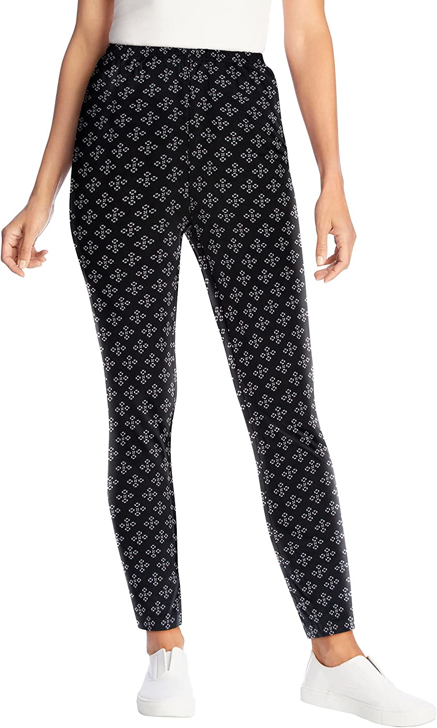 Woman Within All items in the store Women's Plus Size Legging Popular brand in the world Cotton Stretch Printed