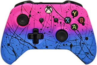 Hand Airbrushed Fade Xbox One Custom Controller Compatible with Xbox One (Matte Hot Pink & Blue)