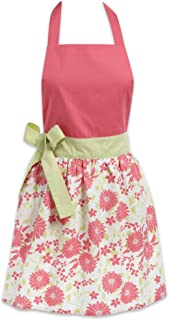 DII Women's Adjustable Cooking Apron Dress with Extra Long Ties, 31 x 28, - Pink Daisy