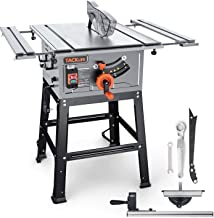 TACKLIFE 2000W Table Saw, Aluminum Expansion table with 24T Blade(4800 RPM), Miter Gauge, Push Bar and Rip Fence - MTS01A