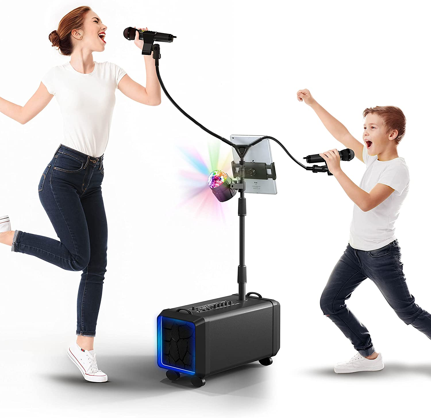 Bluetooth Karaoke Machine for Max 64% OFF Adults and Super sale period limited Kids Wireless Karao - 2
