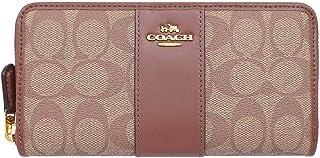 [コーチ] COACH 長財布 F54630 ラウンドファスナー シグネチャー PVC レザー アコーディオン ジップ アラウンド レディース