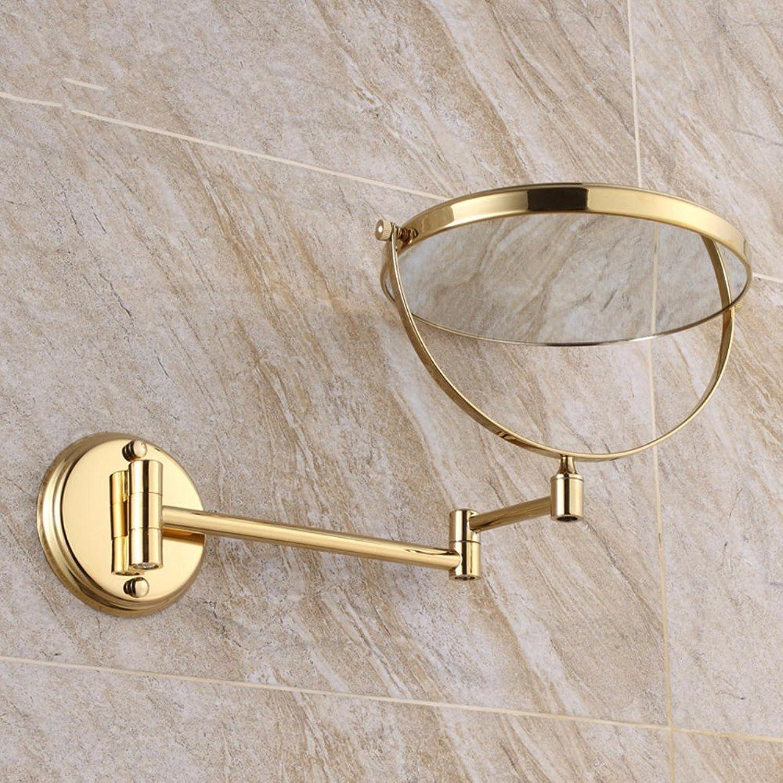 Antique wall mount makeup mirror folding mirror double sided mirror wall mount makeup mirror 8-inch golden