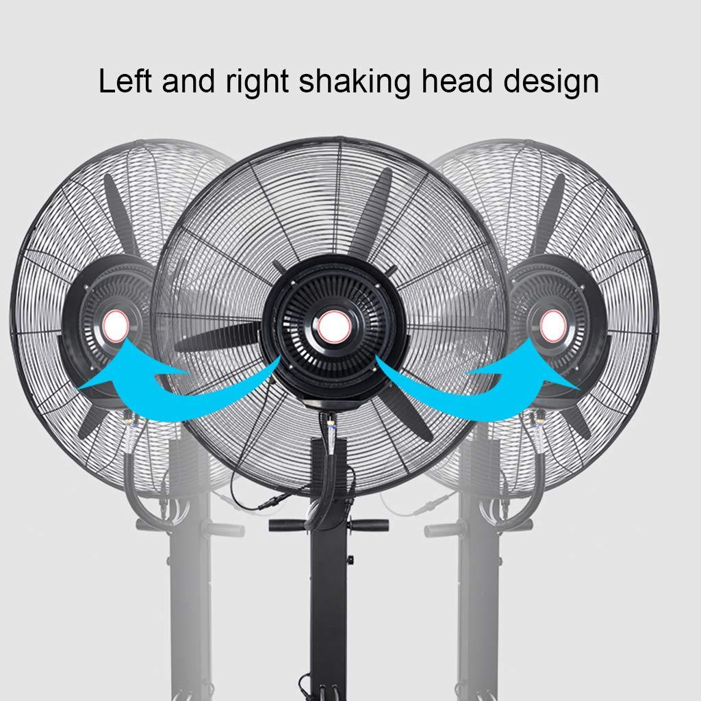 Nebulizador de Agua Ventilador de enfriamiento oscilante Piso ...