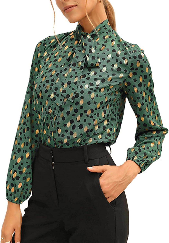 Hemlock Office Lady Shirt Tie Up Work Blouse Floral Print Shirts Long Sleeve Tops Elegant Blouse