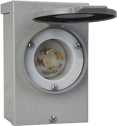 Reliance Controls Corporation PB30 30-Amp NEMA 3R Power Inlet Box for Generators Up to 7,500 Running Watts