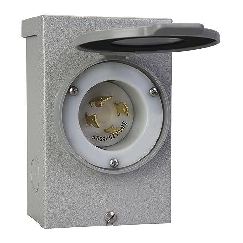 reliance controls corporation pb30 30-amp nema 3r power inlet box for  generators up to