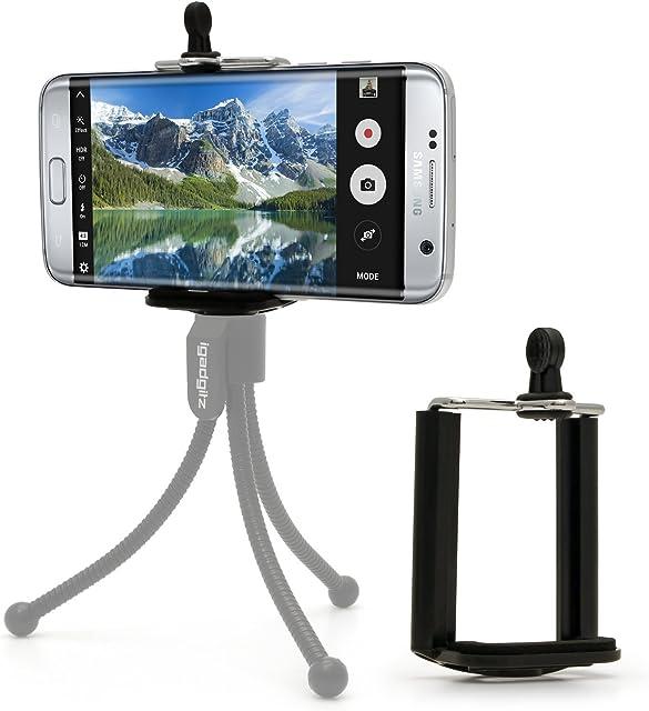 iGadgitz U4539 Adaptador Soporte Compatible con Teléfono Móvil Compatible con Trípodes Monopies & Palos Selfies
