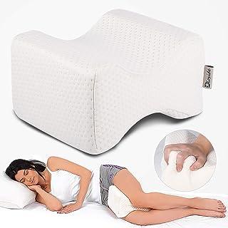 Almohada Piernas para Dormir, Dioxide Ergonómico Cojín Ortopédico, Ideal para ciática, Caderas, articulaciones, Alivio de Dolores de Embarazo y Dormir de Lado - Opción Ideal para Dormir de Lado