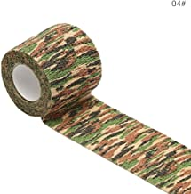 ajzdnzvr Non-Woven Outdoor Camouflage Tape, Self Adherent Cohesive Wrap Bandages,Sports Tape for Wrist Ankle Sprains, 5cmx4.5m