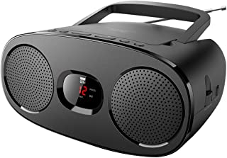 New One RD-306 R Stereo FM Radio with CD Player LED Display AUX-in Telescopic Antenna
