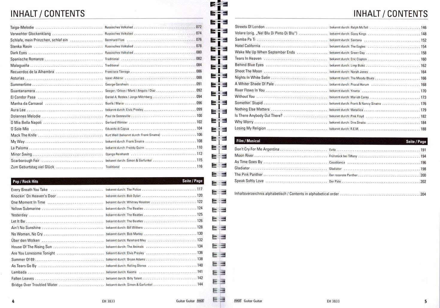 Guitar 9783866263987 - Colección de 100 melodías clásicas ...