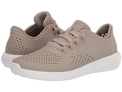 Crocs LiteRide Pacer (Cobblestone/White) Men