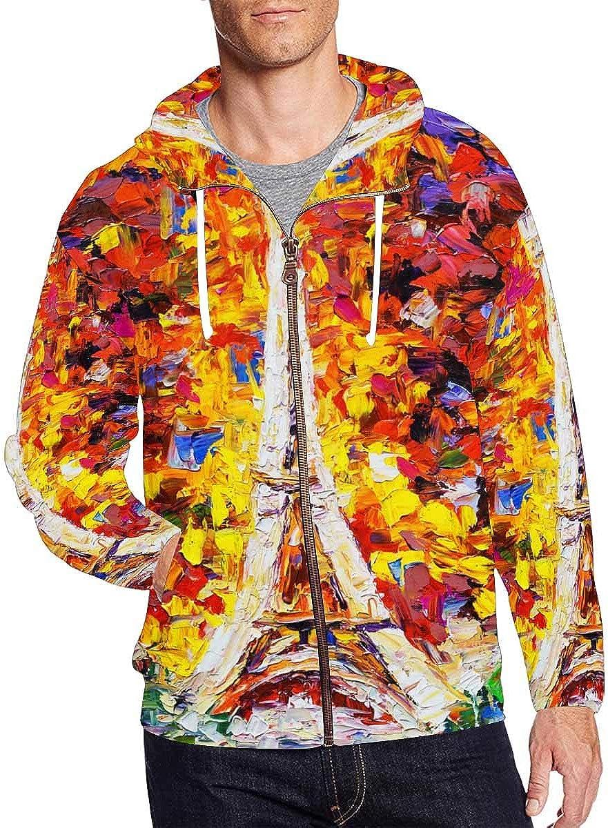 Max 46% OFF InterestPrint Men's Full Zip Hoodies Max 53% OFF Jacket Tower Eiffel Coat P
