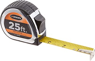 Keson PG1025 Short Tape Measure with Nylon Coated Steel Blade (Graduations: ft., 1/10, 1/100), 1-Inch by 25-Foot