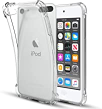 iPod Touch 7 Case,iPod Touch 6 Case,iPod Touch 5 Case,Four-Corner Clear Soft TPU Silicone Non-Slip Slim Shockproof Bumper Protective Phone Case Cover for Apple iPod Touch 7th/6th/5th Generation,Clear