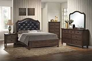 GTU Furniture Perfect Classical Style Wooden Bedroom Set (Queen Bed, 5 PC)
