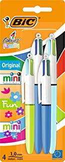 BIC 931818 Ball Pens - Multi-Colour (Pack of 4)