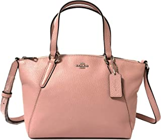 Coach Pebble Leather Mini Kelsey Satchel Crossbody Handbag (SV/Petal)