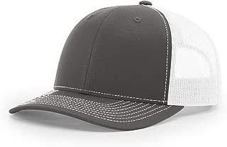 Twill Mesh Back Trucker Snapback Hat -- Charcoal/White