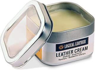 Natural Waterproofing Leather Cream for Boots, Sofa, Purses, Shoes, Furniture, Auto Upholstery - pH Balanced, Non-Toxic Gentle - 8 oz.
