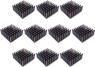 Easycargo 10pcs 25mm Heatsink Kit 25x25x10mm + 3M 8810 Thermal Conductive Adhesive Tape, Cooler Heat Sink for Cooling GPU IC Chips VRAM VGA RAM (25mmx25mmx10mm)