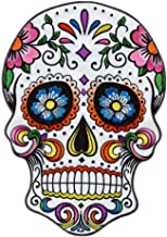 """GODEAGLE 7.1""""x10"""" Large Biker Iron on Patches Peace Sign Hippie Jumbo Floral Sugar Skull Cross Christian Flowers Patch, Dead Motorcycle Biker MC Embroidered Appliqued Sign Patches on Jacket"""