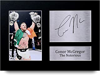 Conor Mcgregor Los Regalos Firmaron A4 la Dedicatoria Impresa UFC La Foto de Impresión Imagina la Demostración