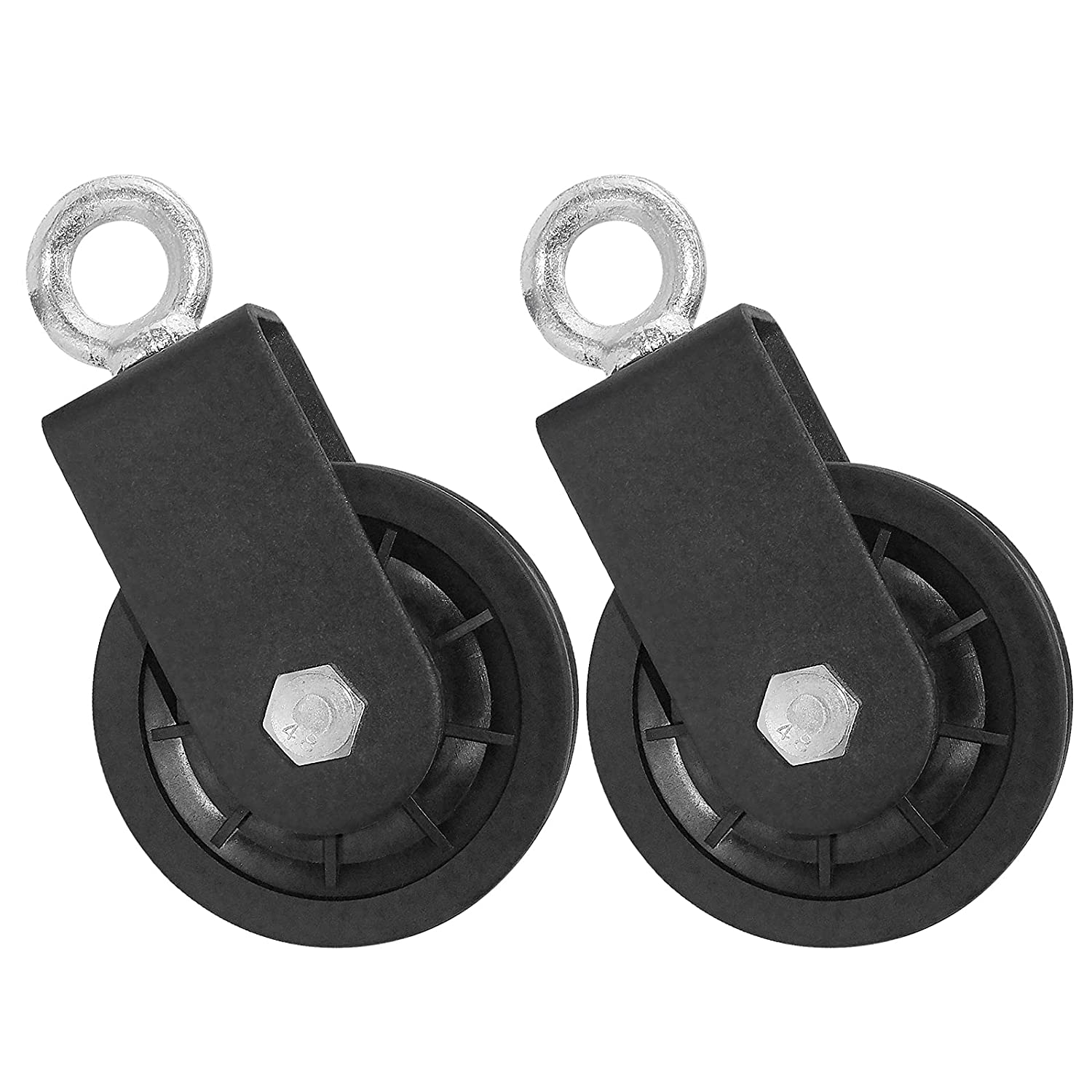 Memphis Mall Cable Pulley 3.54 in 90 mm 360 Rotation Degree Tract Detachable Austin Mall