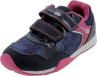حذاء رياضي JoCKER بشريط لاصق مزدوج للفتيات من Geox Girls' NAVY/Pink مقاس 32 M EU للأطفال الصغار (1 US)