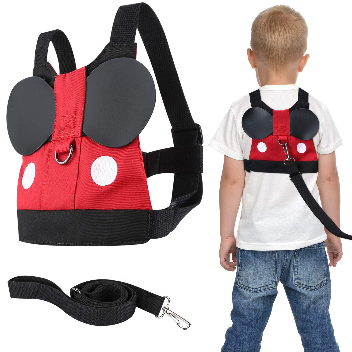 Flashbluer Anti Lost Safety Harness with Safety Leash Cute Design Toddler Leash for Toddlers Age 1-3 Years Old Boys and Girls