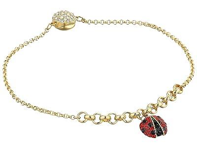 Swarovski Remix Collection Ladybug Strand Charm Bracelet (Gold/Gold Shiny Plating) Bracelet