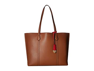 Tory Burch Perry Triple-Compartment Tote (Light Umber) Tote Handbags