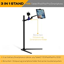 MagicHold 360º Turn Height Adjusting Stand Mount Holder Compatible with iPAD PRO/ipad/Tablet/iPhone for Bed/Floor Stand/Holder,MS Surface Pro Any Upto 13