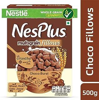 Nestle NesPlus Breakfast Cereal, Multigrain Fillows - Choco Burst, 500gm ( ネスレネスプラス朝食用シリアル、マルチグレインフィロー-チョコバースト - 500gm )