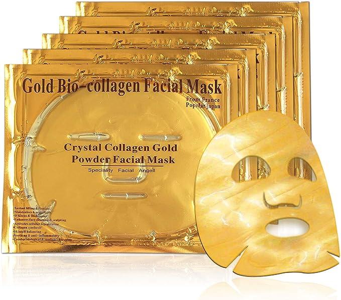 37 opiniones para Mascarilla hidratante facial de oro 24k y colageno para tratamiento facial