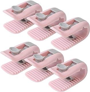 6PCS Vert wanzhaofeng Couette Clips Couverture consolateur de Fixation No Pins Non-Slip Couettes Grippers Anti-Mouvement Lit Clip Feuille Quilt Pince sans Aiguille