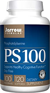 Jarrow Formulas Phosphatidylserine PS 100 for Healthy Cognitive Function, 100 Mg Soft Gels, 120 Count