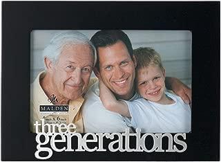 Malden International Designs Expressions Three Generations Picture Frame, 4x6, Black