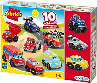 Jouets Ecoiffier – 3269 - Coffret 10 véhicules Fast Cars Abrick – Jeu de construction pour enfants – Dès 18 mois – Fabriqu...