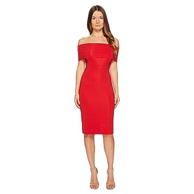 YIGAL AZROUEL Off the Shoulder Ms Dress (Scarlet) Women