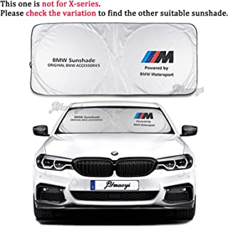 JYMAOYI BMW Sunshade Windshield Visor Cover BMW Window Sun Shade UV Protect Car Window Film for Most E81 E82 E85 E86 E87 E88 E89 E90 E91 E92 E93 E21 E30 E36 E46 Z4 1-Series 3-Series