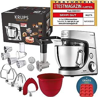 comprar comparacion Robot de cocina Krups Premium 17 pzs., bol acero inox. 4,6 l, bol silicona, 4 agitadores acero inox., apto para lavavajill...