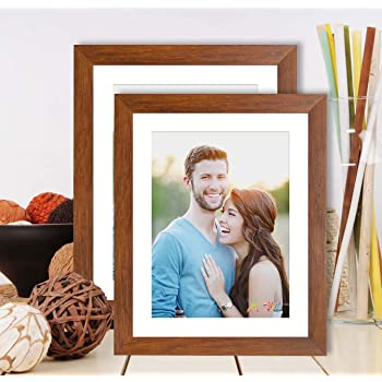 Art Street Synthetic Wood Brown Wall & Table Photo Frame Photo Size 8 x 10 Inches inches ((Brown)