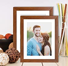 Art Street - Set of 2 Wall and Table Top Photo Frames Perfect for Family Office Table Decorations(2 Units of 8x10) -Brown